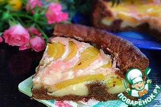 """Шоколадный пирог с консервированным персиком """"Мечта"""""""
