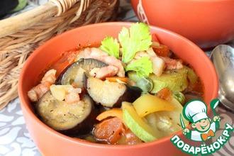 Овощной суп-рагу с грудинкой