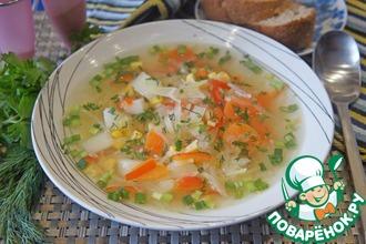 Овощной суп с кукурузой