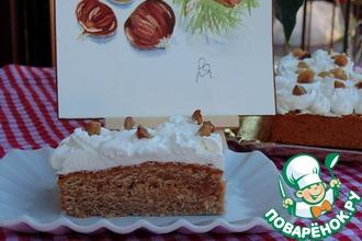 Каштановый пирог со сливочно-медовым кремом