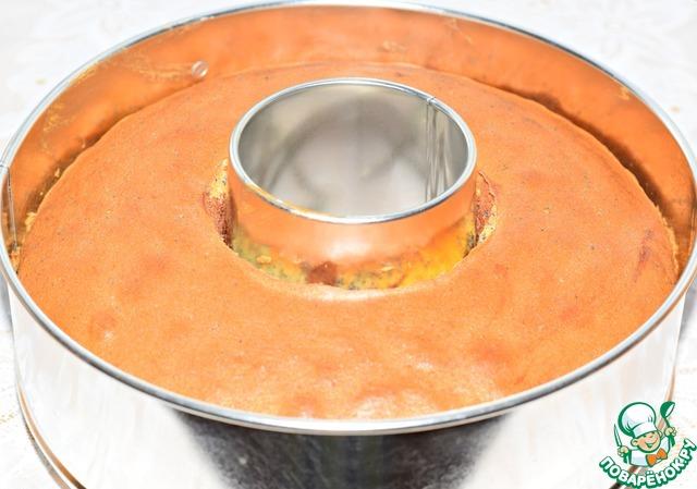 Готовность кекса проверить деревянной шпажкой.    Остудить его минут десять в форме.