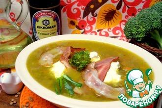 Суп с чечевицей и брокколи