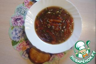 Луковый суп с фунчозой