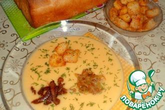 Луково-сырный суп-пюре с беконом