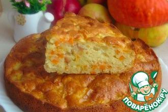 Тыквенно-яблочный пирог с засахаренным имбирем