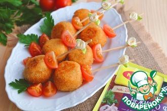 Картофельные шарики с курицей