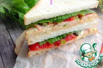 Сэндвич с куриной грудкой и каперсами