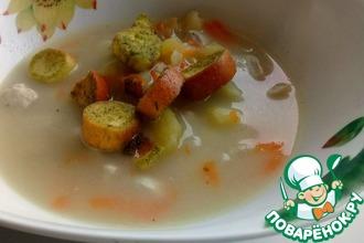 Простой и нежный сырный суп