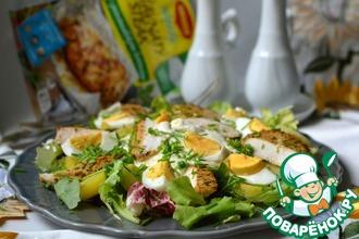 Картофельный салат с куриным филе