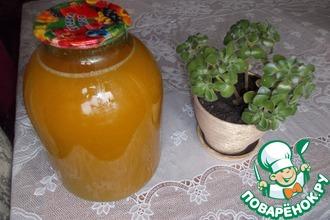 Тыквенно-морковный сок с айвой и ванилью