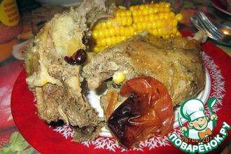 Кокосовая утка в шарабане