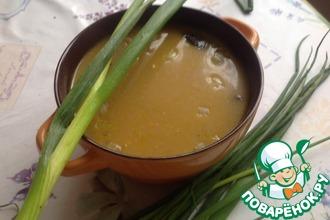 Суп из сушёных грибов с сыром