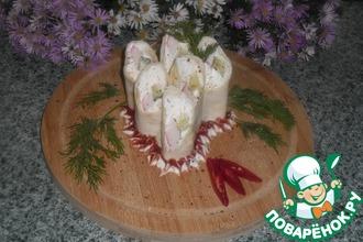 Рулетики с творожным сыром