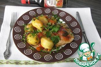 """Курица с картофелем и овощами """"Аппетитная"""""""