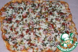 Пицца с огурцом