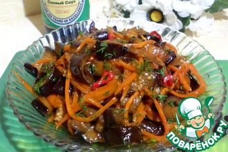 Баклажаны с морковью в соусе