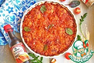 Тефтели, запечённые в томатно-соевом соусе
