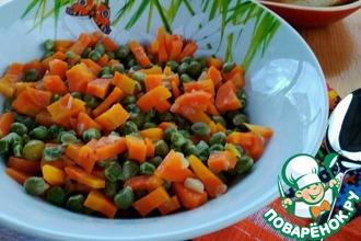 Горох с морковью на гарнир