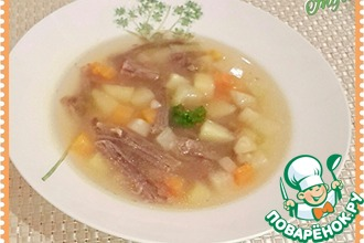 """Овощной суп на говяжьем бульоне """"Любимый"""""""