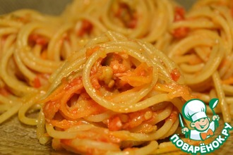 Спагетти с овощными спагетти
