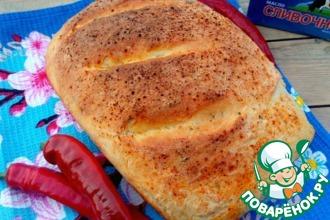 Хлеб творожно-сливочный с зеленью