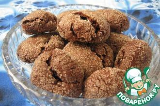 Шоколадное печенье с зефиром маршмеллоу