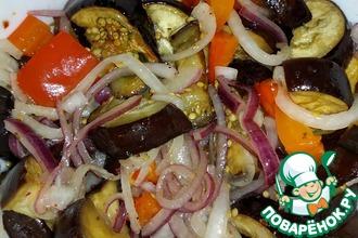 Салат из баклажанов с печеным перцем