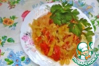 "Кабачковый салат с болгарским перцем ""Юрча-бенс"""