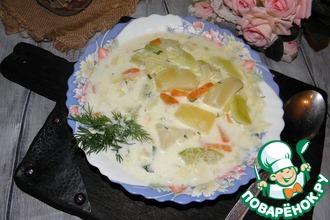 Суп молочный с кабачками