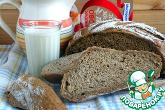 Хлеб с хлопьями и отрубями
