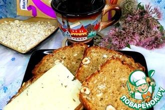 Кофейно-овсяный хлеб с орехами