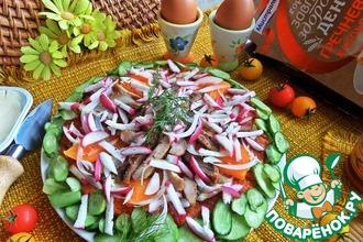 Гречневая галета с овощами и курицей