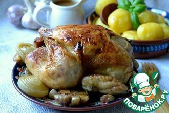 Запеченная имбирная курица