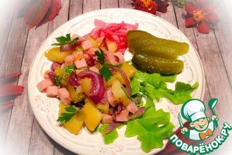 Салат картофельный с ветчиной