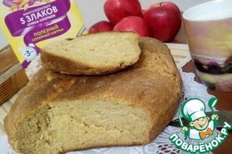 Пшенично-ржаной хлеб на закваске с тыквой