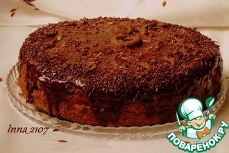 Торт шоколадный с заварным кремом
