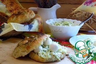Салат с зелёной редькой