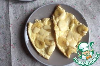 Омлет с бананом и сыром