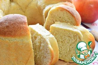 Хлеб пшеничный с печеным яблоком