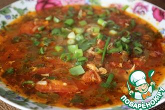 Томатный суп с мясом
