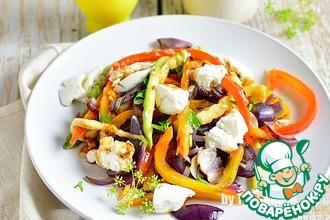 Салат из овощей с рикоттой
