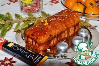 Рождественский яблочный кекс с горчицей