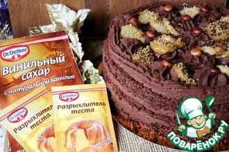 """Шоколадно-банановый торт """"Банановый рай"""""""
