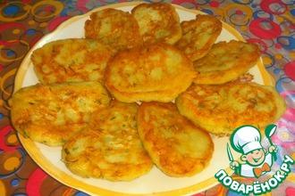Постные картофельные оладьи