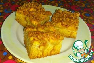 Пирог с яблоками и овсяным штрейзелем