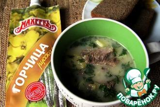Финский гороховый суп с горчицей
