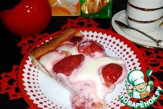 Открытый фруктово-ягодный пирог