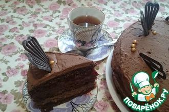 Постный шоколадно-ягодный торт