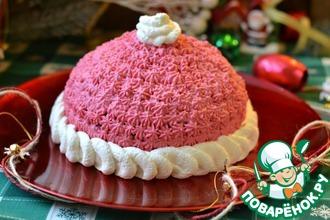 """Торт """"Шапка Деда Мороза"""""""