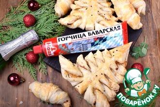 """Рождественские закусочные слойки """"Елочки"""""""